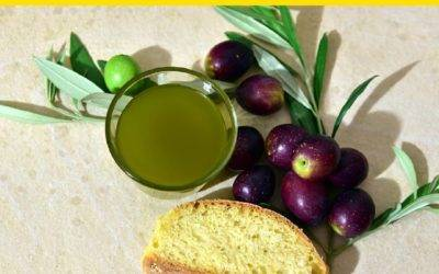 Bread with extravirgin olive oil