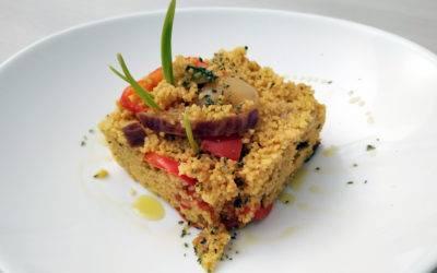 Cous cous a freddo con verdure di stagione e Olio Febo aromatizzato al bergamotto